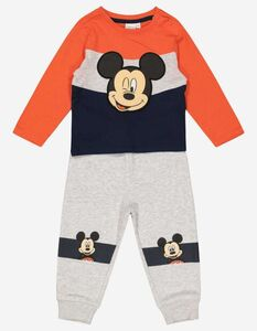 Baby Set aus Langarmshirt und Hose - Mickey Mouse