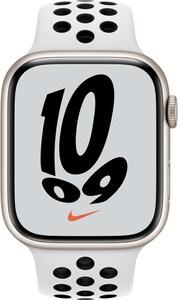 Watch 7 Nike (45mm) GPS Alu mit Nike Sportarmband polarstern/pure platinum/schwarz