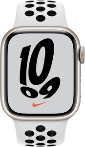 Watch 7 Nike (41mm) GPS Alu mit Nike Sportarmband polarstern/pure platinum/schwarz