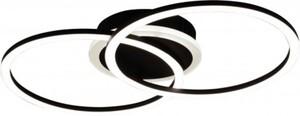 Reality LED Deckenleuchte VENIDA schwarz matt, Acryl weiß