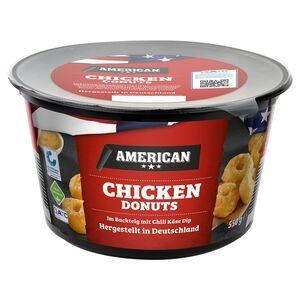 AMERICAN Chicken Donuts im Backteig mit Chili-Cheese-Dip 550 g