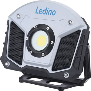 Ledino LED-Akkustrahler Horn 15W mit Bluetooth-Lautsprechern, Powerbankfunktion