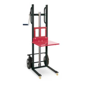 STIER Materialheber mit Plattform, Traglast 150kg, Hubhöhe 1200mm, Vollgummi-Räder