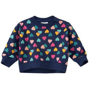 Baby Sweatshirt mit Herz-Allover