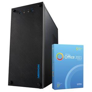 MEDION AKOYA® E36002, AMD Ryzen™ 3 3200G, Windows10Home, GT 1030, 256 GB SSD, 8 GB RAM, Multimedia PC, inkl. SoftMaker Office Standard 2021