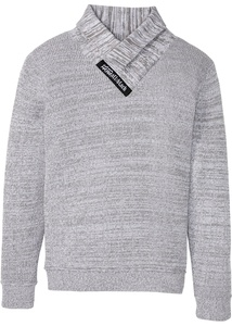 Hautfreundlicher Pullover mit Schalkragen aus Baumwolle