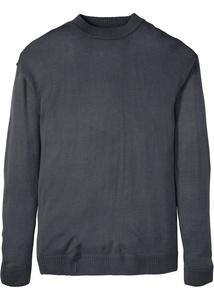 Rundhals-Pullover mit überschnittenen Schultern