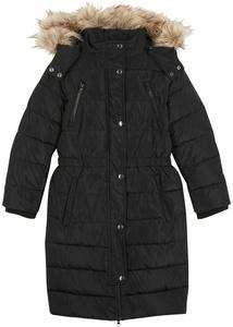 Wattierter Mädchen Mantel mit abnehmbarer Kapuze