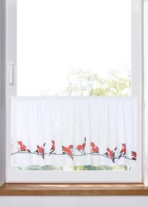 Bio Baumwoll Scheibengardine mit Vögeln