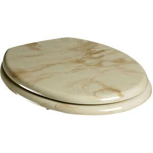 Adob - WC-Sitz Marmor mit starkem MDF Holzkern und Marmordekor Farbe beige