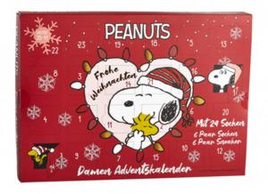 Peanuts Damen Socken Adventskalender