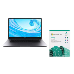 HUAWEI MateBook D 15 53011TRH Notebook + Micosoft 365 Family (15 Monate)
