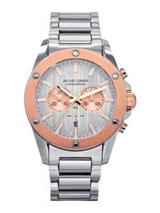 Herren-Chronograph Jacques Lemans Silberfarben::Rosé