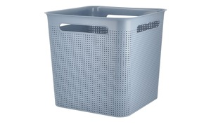 Rotho Aufbewahrungsbox blau Kunststoff Maße (cm): B: 29 H: 28 T: 29 Aufbewahrung