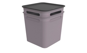 Rotho Aufbewahrungsbox, Set 4 tlg. lila/violett Polypropylen Maße (cm): B: 29 H: 33 T: 29 Aufbewahrung