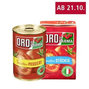 Oro di Parma Tomaten, stückig oder passiert versch. Sorten, jede 400-g-Dose/Packung