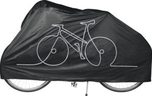 IDEENWELT Fahrrad- und Mofa-Abdeckung Schwarz/Silber
