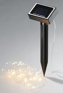 IDEENWELT Solar-Metalldraht-Lichterkette