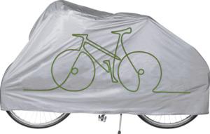 IDEENWELT Fahrrad- und Mofa-Abdeckung Silber/Schwarz