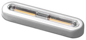 IDEENWELT LED-Touchlights 2er Set silber