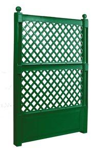 Spalier 100 cm mit Erdspieß, grün, 2er Set