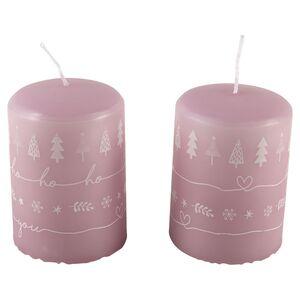CASA DECO Weihnachtliche Kerzen 2er-/4er-Packung
