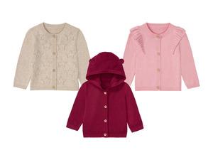 LUPILU® Baby Strickjacke Mädchen, aus Bio-Baumwolle