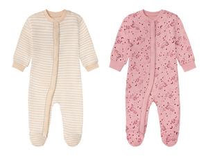 LUPILU® Baby Schlafoverall Mädchen, aus Bio-Baumwolle