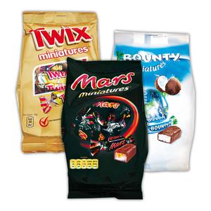 Bounty/ Twix/ Mars/ Snickers Miniatures