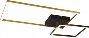 Reality LED Deckenleuchte Padella schwarz, gold, Switch Dimmer, schwenkbar