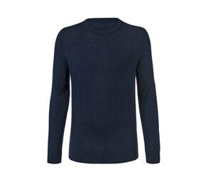 Merino-Pullover mit Rundhalsausschnitt, dunkelblau