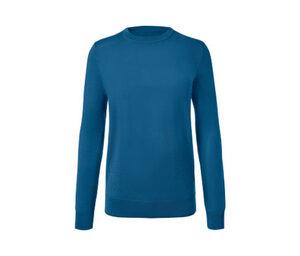 Merino-Pullover mit Rundhalsausschnitt, blau
