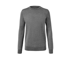 Merino-Pullover mit Rundhalsausschnitt, grau