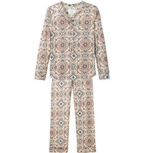 Calida Nature Pyjama, Ornamente, Tunika-Ausschnitt, für Damen