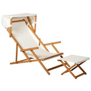 Outsunny Sonnenliege Gartenliege Relaxliege verstellbar Liegestuhl Relaxsessel Gartenmöbel mit Sonne