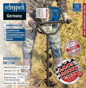 Scheppach Erdbohrer-Set EB1700
