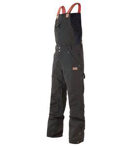PICTURE Yakoumo Bib Snowboard-Hose hochwertige Herren Ski-Hose mit abnehmbarem Latz Schwarz, Größe:L