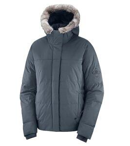 Salomon Snuggly Warm Jacke optimale Damen Winter-Jacke Snowboard-Jacke Grau, Größe:M