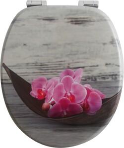 badkomfort Design-WC-Sitz mit Absenkautomatik, Orchidee & Schale