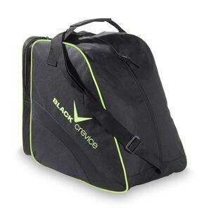 BLACK CREVICE - Tasche für Ski- & Snowboardschuhe  | 45x39x25 cm | Farbe: Schwarz/Gelb