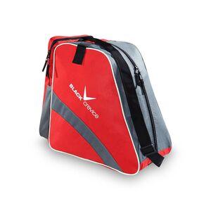 BLACK CREVICE - Tasche für Ski- & Snowboardschuhe  | 45x39x25 cm | Farbe: Rot/Grau