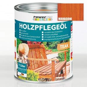 Powertec Color Holzpflegeöl, Mahagoni 4 er Set