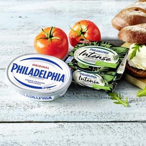 Philadelphia Original oder Intense Frischkäsezubereitung, 69/70 % Fett i. Tr./14 % Fett absolut, versch. Sorten, jede 175/150/140/130-g-Packung