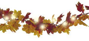 Dekor Herbstgirlande - Blätter orange - versch. Designs