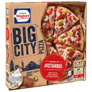 Original Wagner Big City Pizza Istanbul mit Sucuk Peperoni & Weißkäse 435g