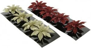 Kaemingk Weihnachtsblume Poinsettia Ø 8 cm ,  verschiedene Farben