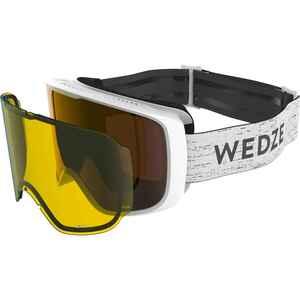 Skibrille Snowboardbrille G 100 I Allwetter Erwachsene/Kinder weiss
