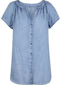 Cold-dye-Bluse mit Kurzarm