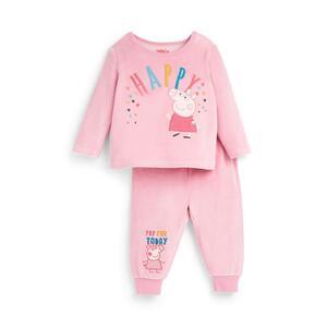 """Rosafarbener """"Peppa Pig"""" Pyjama aus Velours für Babys (M)"""