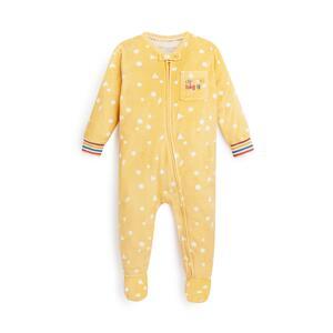 Gelber, flauschiger Stacey Solomon Schlafanzug für Babys